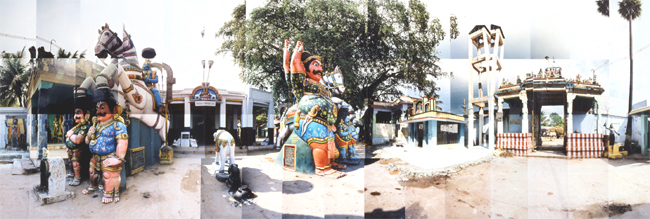 Large image of Muthiah Ayyanar Temple, Katchadai Village, India