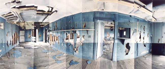 Large image of Heart Mountain Relocation Camp, Blue Room, Park, Wyoming
